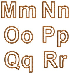 Letters with texture of wood vector