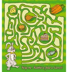 Rabbit maze game vector