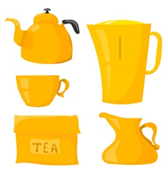 Set Items for tea vector image vector image