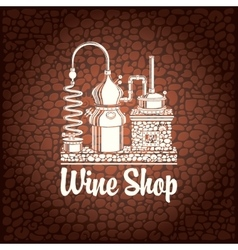 banner for wine shop vector image vector image