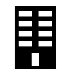 building the black color icon vector image vector image