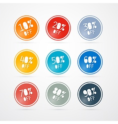 Discount Labels Tags Set vector image vector image