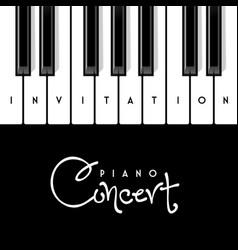 piano concert invitation design template vector image vector image