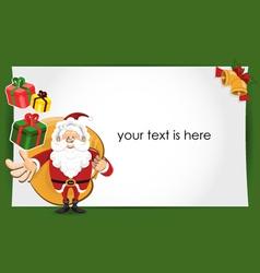santa claus christmas greeting card vector image vector image