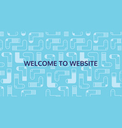 welcome to website for socks shop vector image vector image