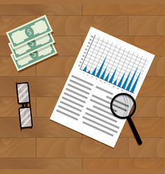 Analysis of annual financial statistics vector