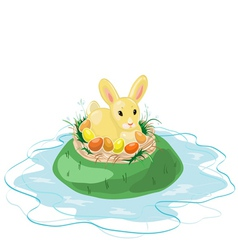 Easter Bunny on the Island vector image