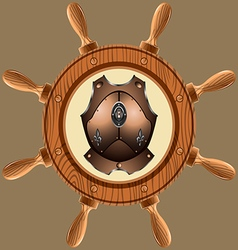 icon pirate cuirass02 vector image vector image
