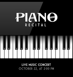 piano recital poster leaflet or invitation design vector image vector image