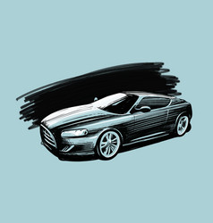 sports car vehicle sketch vector image