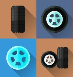 wheel flat design vector image