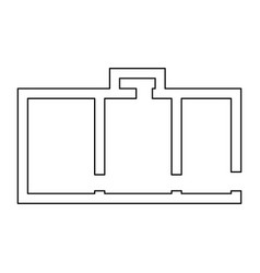 apartment plan black color path icon vector image