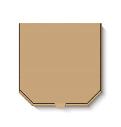 blank white cardboard pizza box for your design vector image vector image