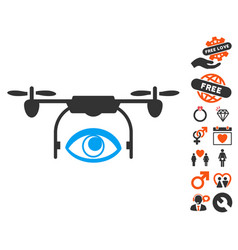 eye spy drone icon with dating bonus vector image