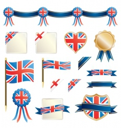 great britain ribbons and seals vector image vector image