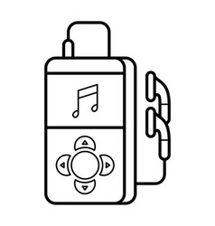 player line art simple gadget icon vector image