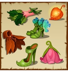 Set of clothes little fairies six items vector image
