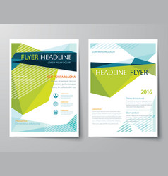 abstract low polygon flyer templates vector image