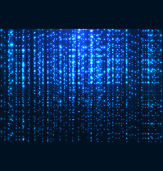 abstract matrix technology blue magic sparkling vector image