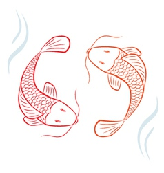 Asian Fish vector image