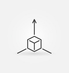 Augmented reality cube icon or symbol in line vector