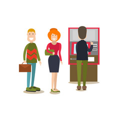 Bank people concept in flat vector