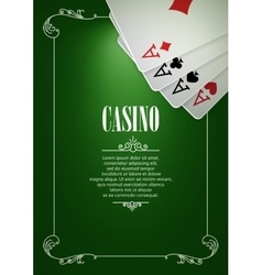 Banner with Casino Logo Badges vector image