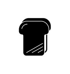 bread toast icon black sign vector image
