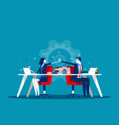 business team joy with colleagues concept vector image