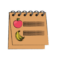 Calendar nutrition plan vector