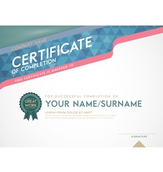 certificate template and frame vector image
