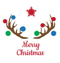christmas antlers vector image