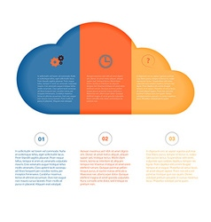Cloud 1 2 3 options and icons gear service vector