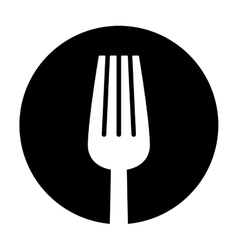 contour fork icon image design vector image