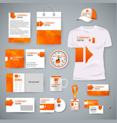 Corporate identity business photorealistic design vector image