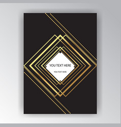 creative page template elegant concept golden vector image