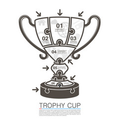 Cup winner with icons puzzle vector