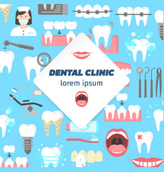 dental clinic poster vector image