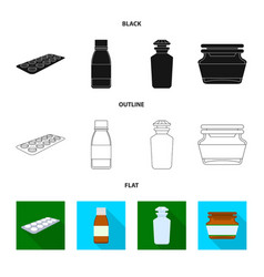 design of retail and healthcare icon set vector image