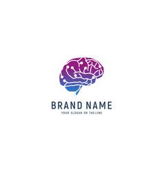 Design technology brain logo vector