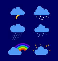 different weather rain storm vector image