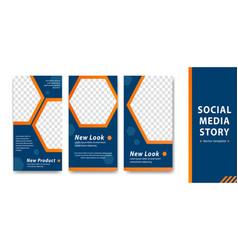 Editable instagram social media story template vector