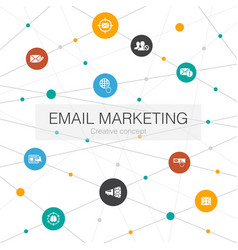 Email marketing trendy web template with simple vector