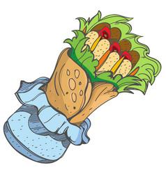 enchilada logo traditional mexican cuisine vector image