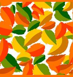 falling leaves in seamless pattern vector image