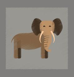 flat shading style icon cartoon elephant vector image