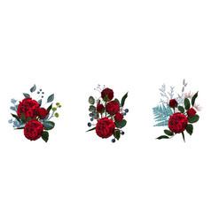 floral leaf and buds vector image