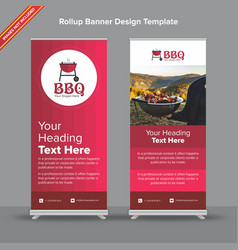 Gradient rollup banner in cherry shades vector