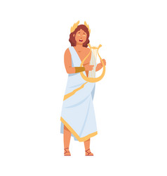 greek god apollo cartoon ancient greece deity vector image