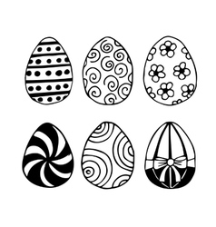 Hand-drawn Easter eggs vector